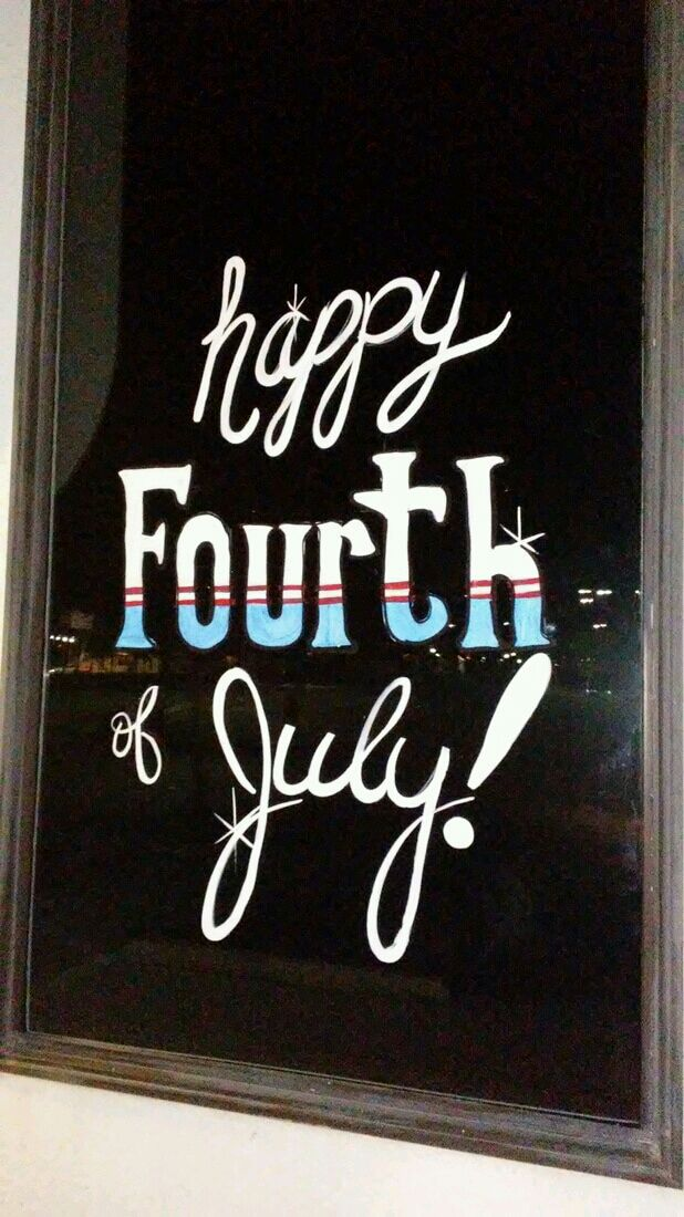 Fourth of July Lettering - Image M Burgess