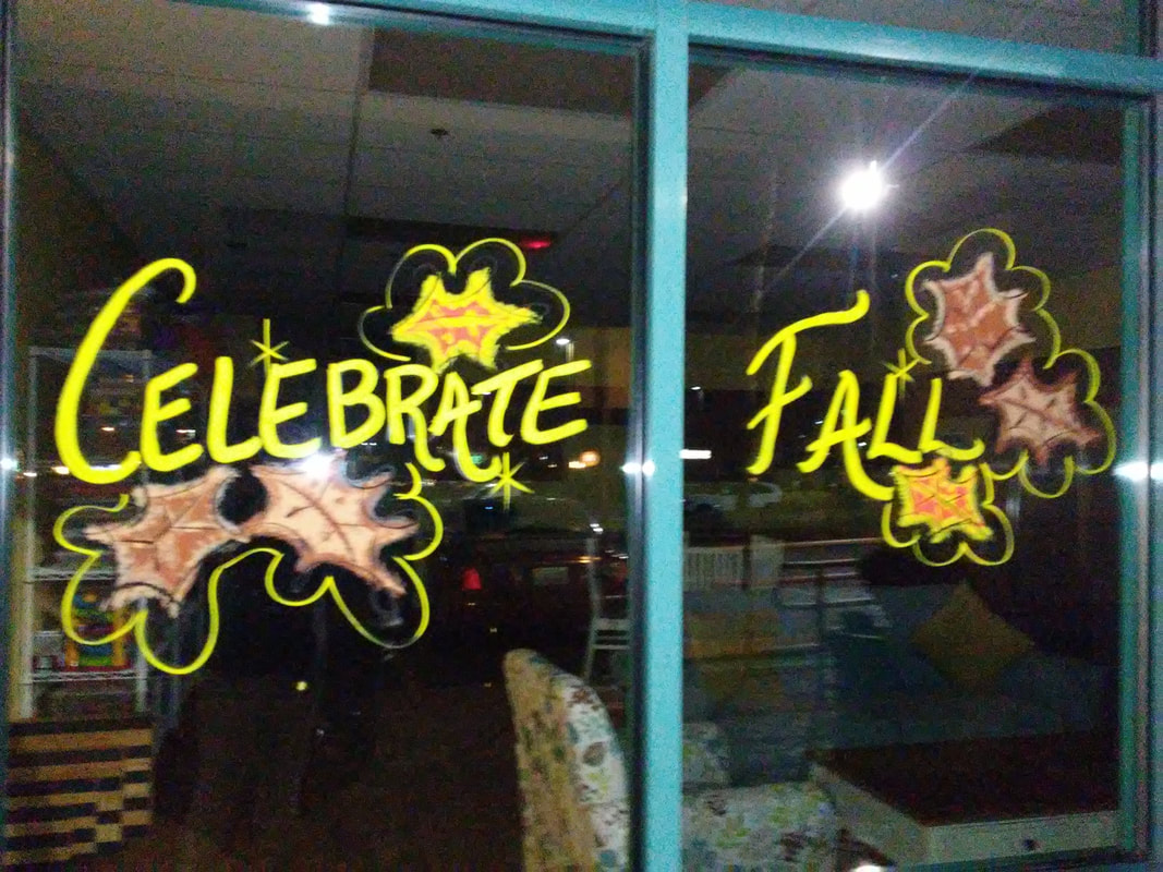 Celebrate Fall Window Splash Greeting